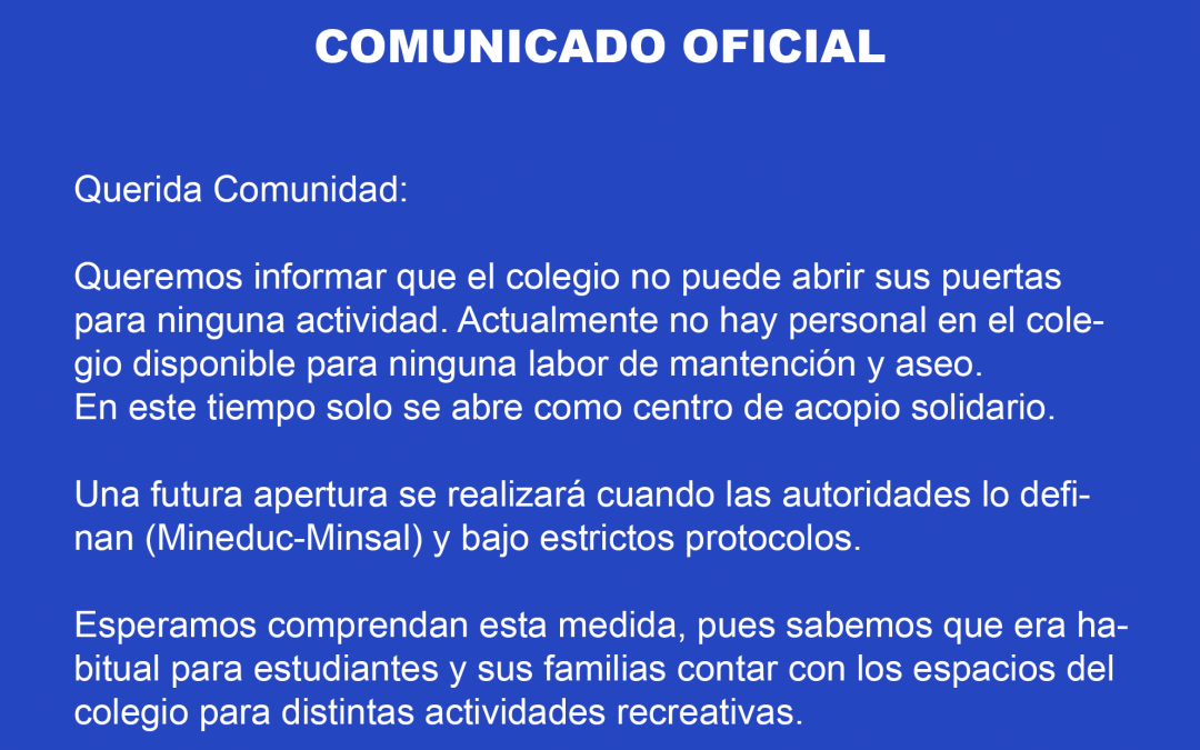 Comunicado Agosto 2020